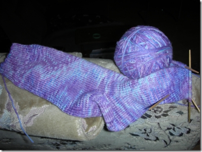 cashmere purple and blue sock