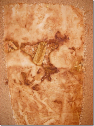 rust dyed fabric