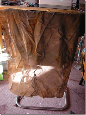 dark rust dyed fabric
