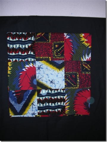 cushion cover in same African fabrics