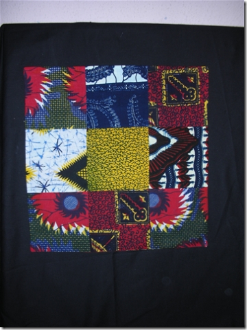 table mat using African fabrics in patchwork
