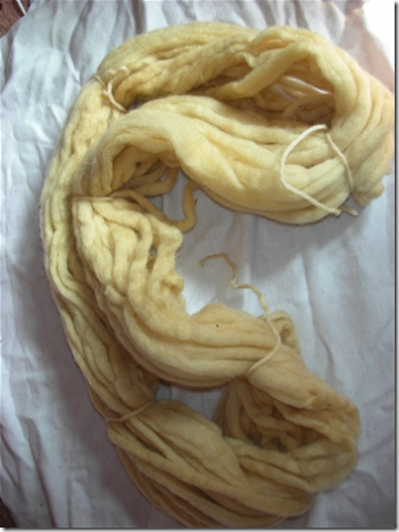 cream coloured yarn