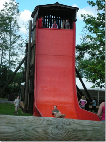 red scary slide