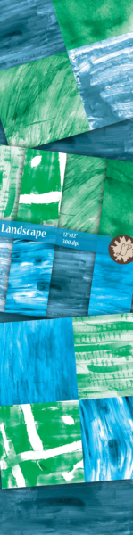 Blue and green paint strokes kit