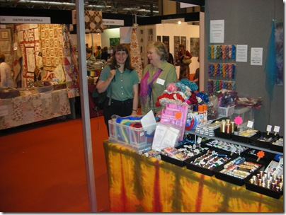Liz and Myfanwy at Festival of Quilts 2008