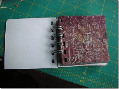 little book with gocco printed page