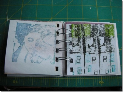 gocco printed pages in little book
