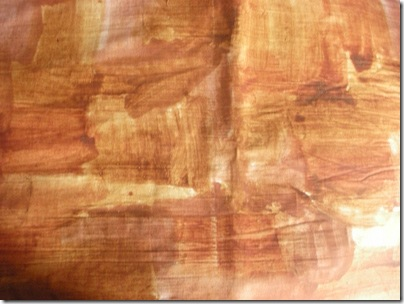 ochre painted fabric