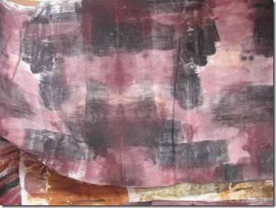 ochre painted textural fabric