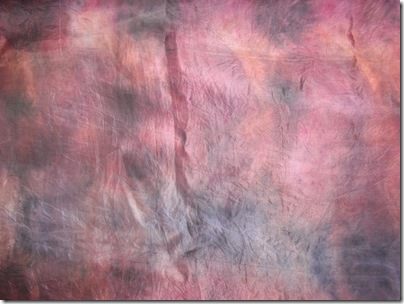 red compost dyed silk scarf