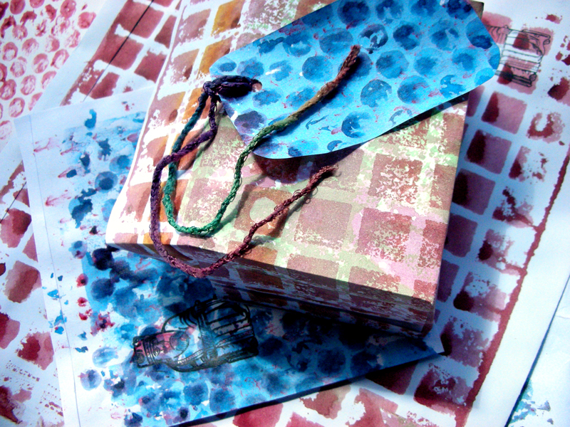 packaging material made from printed paper