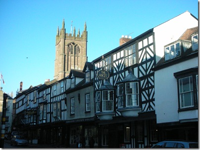 more half timbered shops in Ludlow
