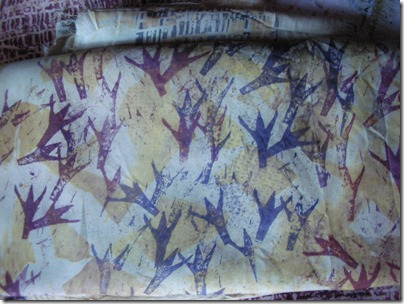 mud and bird print fabric