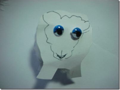 cotton reel sheep