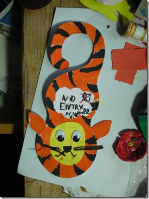 door hanger - tiger