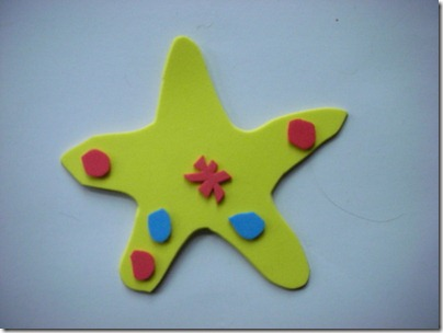 starfish fridge magnet