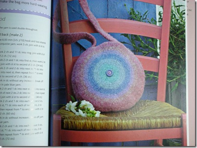 crocheted felted bag from book