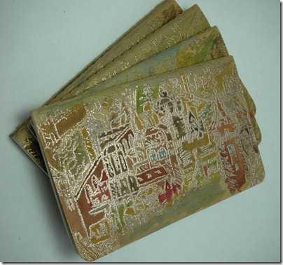 medieval city designs printed on molekine cahier notebooks