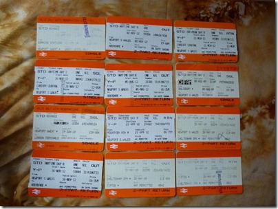 12 train tickets