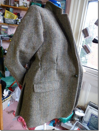 altered harris tweed jacket