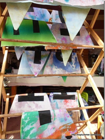 screen printed letters on bunting