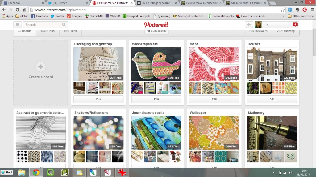 Liz's pinterest boards