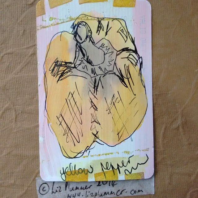 yellow pepper #trainticketart