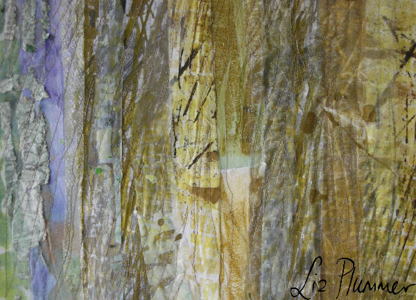Reeds 6 Mixed media collage/patchwork