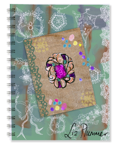 This is a very different style of journal; I was thinking lace and delicate tracery