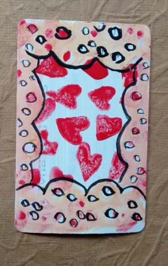 lace and hearts on trainticketart