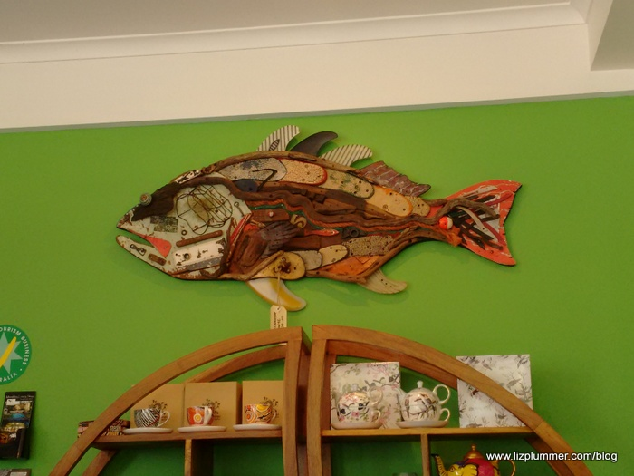 fish on wall