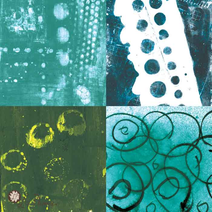 part of a mixed media background kit