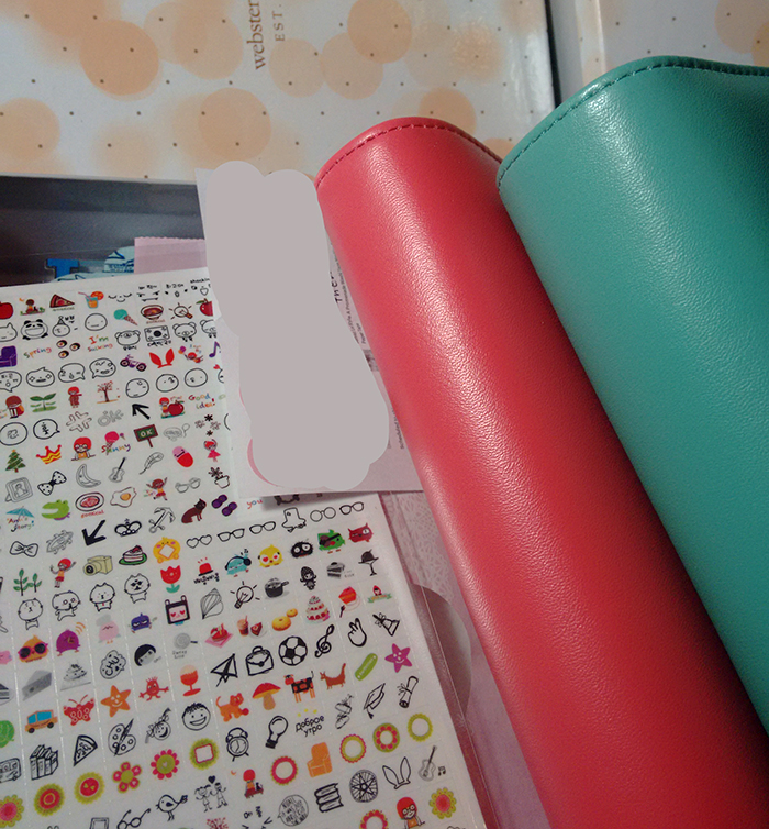 2 Color Crush binders from Websters Pages and a sheet of stickers