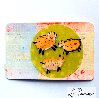 Little sheep - from my Etsy circle clipart kit