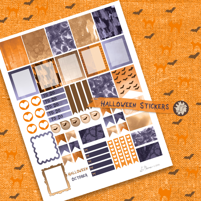 Planner stickers for halloween