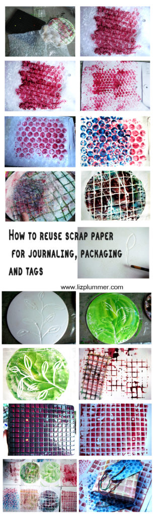 How to reuse scrap paper for journaling, packaging and tags - reuse, recycle and have fun!